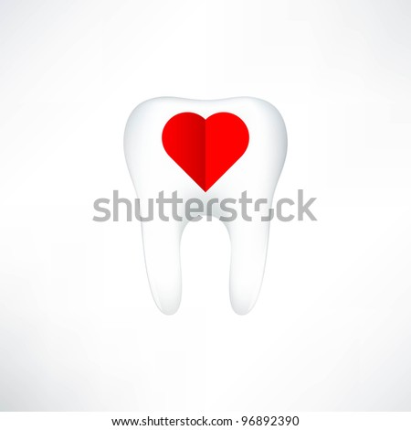 Tooth  On White Background. Vector Illustration - stock vector