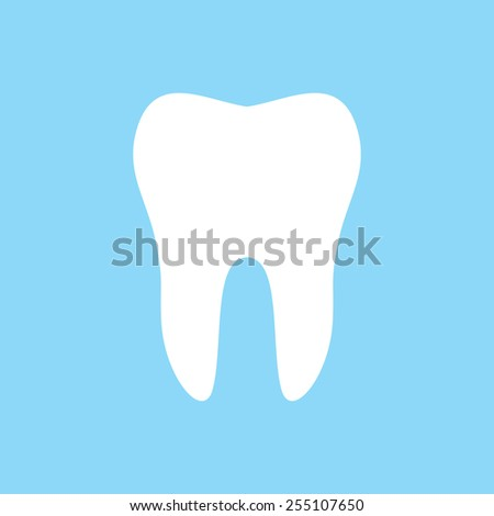 Tooth vector icon - stock vector