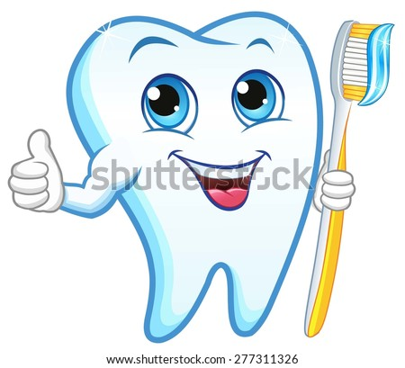tooth toothbrush smiling stock vector royalty free 277311326