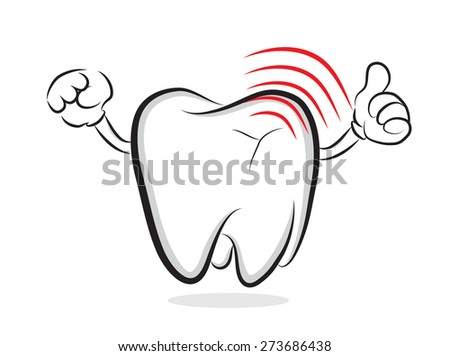 Tooth with inflammation - stock vector