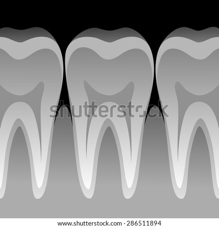 Tooth X-ray  - stock vector