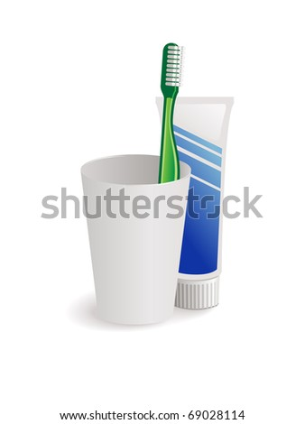 toothbrush and toothpaste for dental hygiene