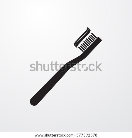 Toothbrush icon - stock vector