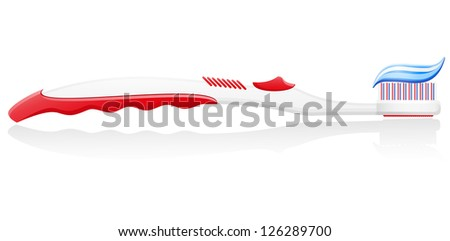 toothbrush vector illustration isolated on white background