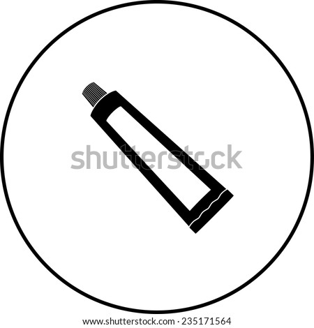 toothpaste tube symbol - stock vector