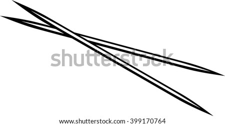 toothpicks - stock vector