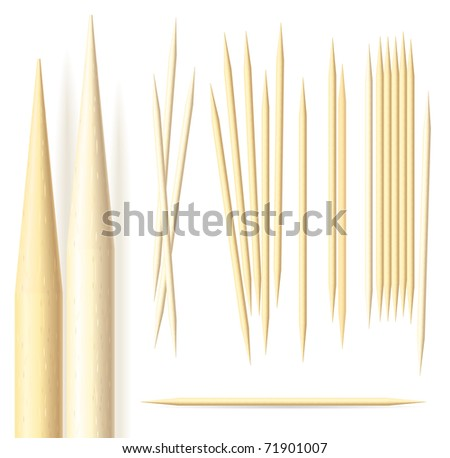 Toothpicks illustration on a white background