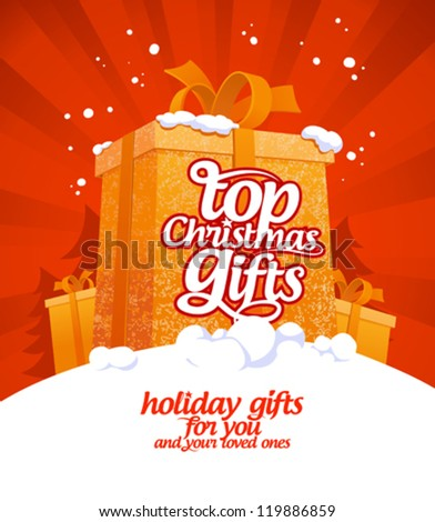 Top Christmas gifts design template.