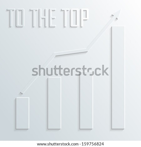 top diagram vector - stock vector
