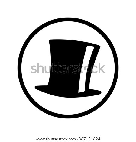 top hat vector icon circle stock vector 367151624 - shutterstock