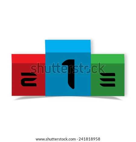 Top places one, two,three - stock vector