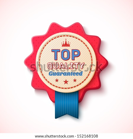 Top Quality, badge. Vector illustration - stock vector
