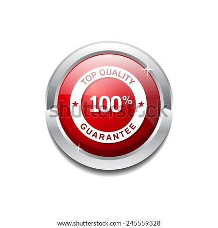 Top Quality Red Vector Icon Button - stock vector