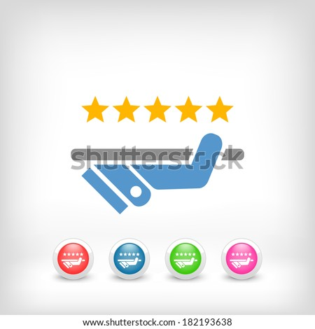 Top quality service - stock vector