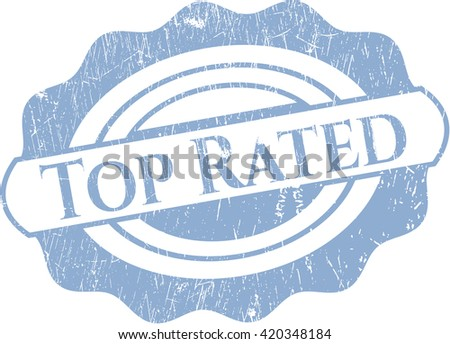 Top Rated with rubber seal texture - stock vector