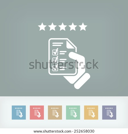 Top rating icon - stock vector