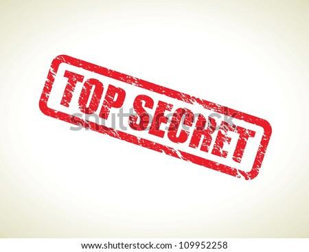 top secret - stock vector