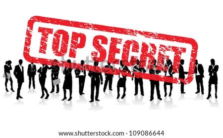 top secret business people - stock vector