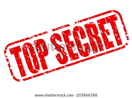 Top secret red stamp text on white - stock vector