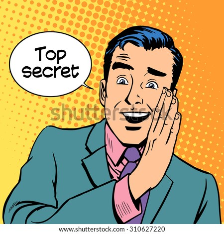 Top secret security business retro style pop art - stock vector