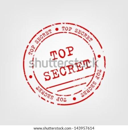 Top secret stamp - stock vector