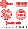 Top secret, stamp icon vector - stock photo