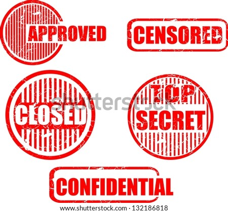 Top secret, stamp icon vector - stock vector
