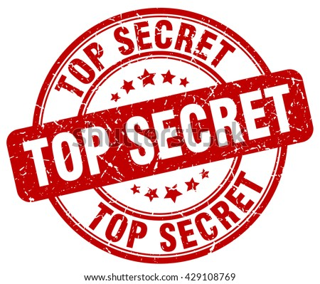 Top Secret Stamp Red Round Grunge Stock Vector 429108769 ...