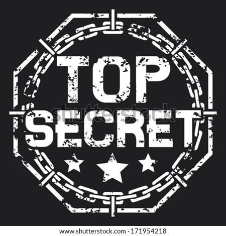 top secret stamp (top secret sign) - stock vector