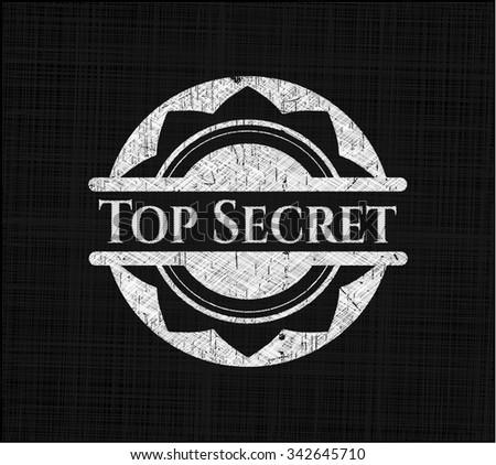 Top Secret written on a chalkboard - stock vector