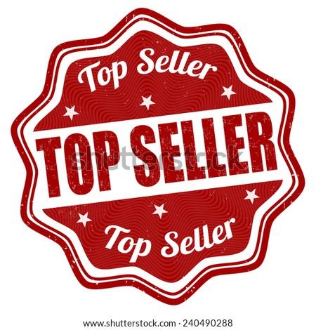 Top seller grunge rubber stamp on white background, vector illustration - stock vector