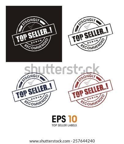 top seller labels - stock vector
