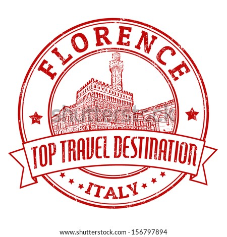Top travel destination grunge rubber stamp with the word Florence, Italy inside, vector illustration