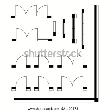 Architectural symbols stock images royalty free images for Architectural design elements