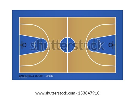 Top view of basketball court - Vector illustration