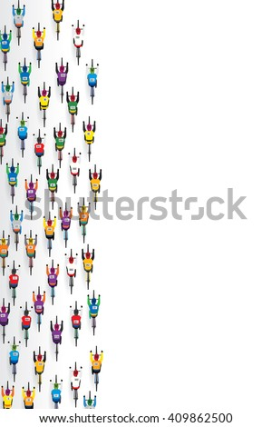 Top view of racing bicycle. Vector illustration - stock vector