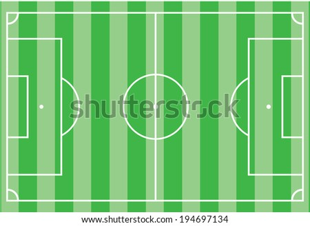 Top view of soccer field or football field - Vector illustration - stock vector