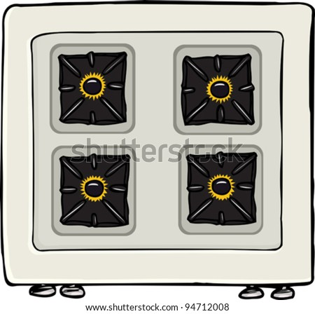 Stove Top Stock Vector Top View of Stove