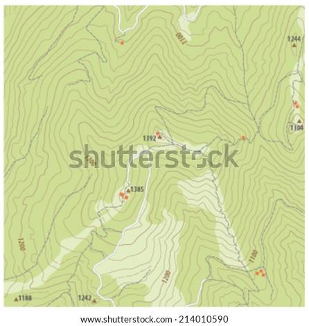 topographic map - stock vector