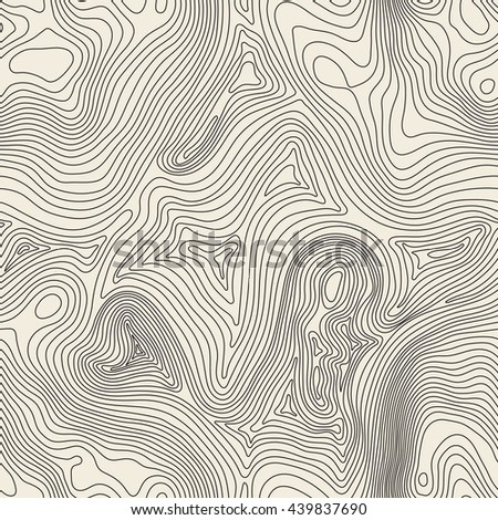 Topographic map background concept with space for your copy. Topo contour map background, vector illustration - stock vector