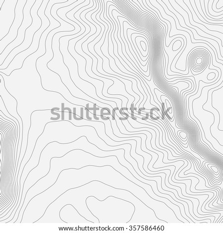 Topographic map background with space for your copy. - stock vector