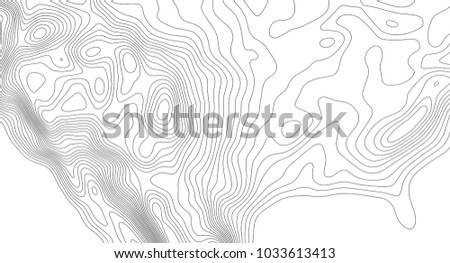Topographic map contour background topo map stock vector 1033613413 topographic map contour background topo map with elevation contour map vector geographic world gumiabroncs Images