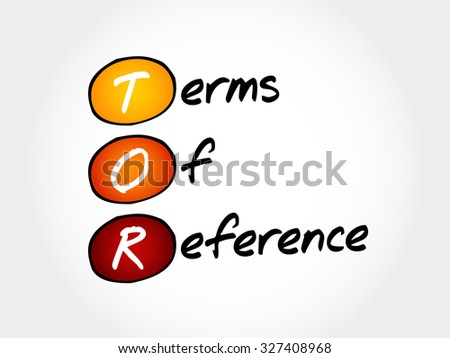 TOR - Terms of Reference, acronym business concept