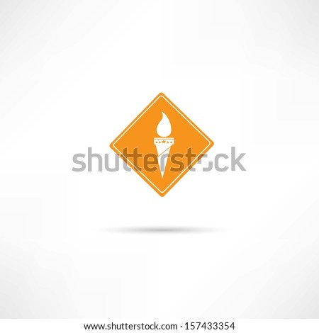 torch icon - stock vector