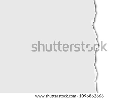Torn Half Sheet White Paper Down Stock Photo (Photo, Vector ...