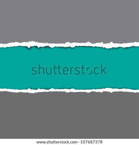 Torn paper - stock vector