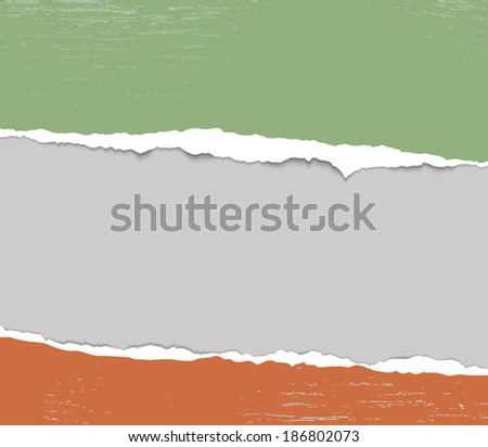 torn paper abstract background, design template