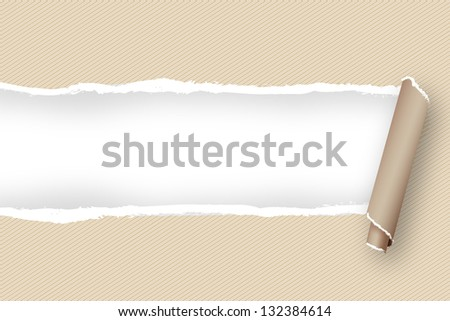 torn paper abstract background to place your text - stock vector