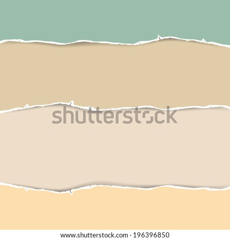 Torn Paper Abstract Vector Illustration in Pastel Colors - stock vector