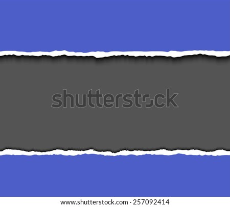 Torn paper pieces background wit space for your text. Vector EPS10 illustration. Design elements - paper with ripped edges - stock vector